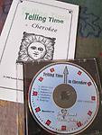 Telling Time in Cherokee - CD with numbers and how to tell time in the Cherokee language. Instructions show English, pronunciation and Syllabary.