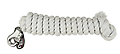 """WEAVER """"White Cotton Lead Rope with Nickel Plated Bull Snap"""" - Ride the brand."""
