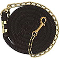 """WEAVER """"Poly Lead Rope with Brass Plated Swivel Chain """" - Ride the Brand."""