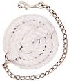 """WEAVER""""White Cotton Lead Rope with Nickel Plated Chain and 225 Snap """" - Ride the brand"""