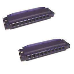 Hohner Kids BPA FREE Translucent Harmonica 2 Pack - Purple Package includes Hohner Kids BPA FREE Translucent Harmonica 2 Pack - Purple.