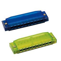 Hohner Kids BPA FREE Translucent Harmonica 2 Pack - Green & Blue Harmonicas Package includes Hohner Kids BPA FREE Translucent Harmonica 2 Pack - Orange & Green Harmonicas.