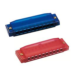 Hohner Kids BPA FREE Translucent Harmonica 2 Pack - Blue & Red Harmonicas Package includes Hohner Kids BPA FREE Translucent Harmonica 2 Pack - Blue & Red Harmonicas.