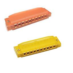 Hohner Kids BPA FREE Translucent Harmonica 2 Pack - Yellow & Orange Harmonicas Package includes Hohner Kids BPA FREE Translucent Harmonica 2 Pack - Yellow & Orange Harmonicas.