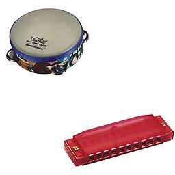 Remo Rhythm Club Kids Tambourine Deluxe w/Hohner Kids BPA FREE Translucent Red Harmonica Package includes Remo Rhythm Club Kids Tambourine Deluxe w/Hohner Kids BPA FREE Translucent Red Harmonica.