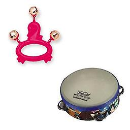 Hohner Kids Pink Swan Animal Jingle Bells Deluxe w/ Remo Rhythm Club Kids Tambourine Package includes Hohner Kids Pink Swan Animal Jingle Bells Deluxe w/ Remo Rhythm Club Kids Tambourine.