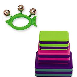 Hohner Kids Green Fish Animal Jingle Bells Deluxe w/LP Percussion 3 Piece Box Shakers Rhythm & Fine Package includes Hohner Kids Green Fish Animal Jingle Bells Deluxe w/LP Percussion 3 Piece Box Shakers Rhythm & Fine Motor Skills Toy.