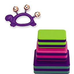Hohner Kids Purple Turtle Animal Jingle Bells Deluxe w/LP Percussion 3 Piece Box Shakers Rhythm & Fi Package includes Hohner Kids Purple Turtle Animal Jingle Bells Deluxe w/LP Percussion 3 Piece Box Shakers Rhythm & Fine Motor Skills Toy.