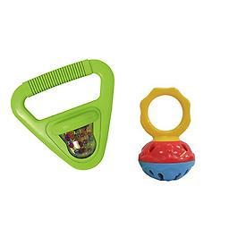 Toddler Music Toys, Rhythm & Fine Motor Skills Toys - Hohner Musical Shapes (Triangle) + Mini Cage B Package includes Hohner Musical Shapes (Triangle) + Mini Cage Bell Set.