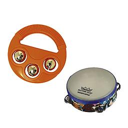 Toddler Music Toys, Rhythm & Fine Motor Skills Toys - Hohner Musical Shapes (Circle) + Remo Rhythm C Package includes Hohner Musical Shapes (Circle) + Remo Rhythm Club Tambourine.