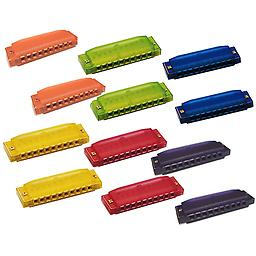 Hohner Translucent Harmonica 12 Pack (2 Orange, 2 Green, 2 Blue, 2 Yellow, 2 Red & 2 Purple) Package includes Hohner Translucent Harmonica 12 Pack (2 Orange, 2 Green, 2 Blue, 2 Yellow, 2 Red & 2 Purple).