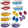 Pre-School & Day Care Supplies -Music Class PK of 8 Wrist Bells + 16 Egg Shakers - Package includes 2 red wrist bells, 2 yellow wrist bells, 2 purple wrist bells, 2 blue wrist bells and 4 pairs of egg shakers (2 red, 2 yellow, 2 purple and 2 blue).