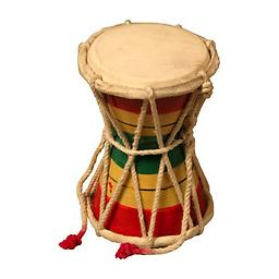 Children's Musical Toys - Fine/Gross Motor Skills Toy - 2 Sided Mini Hand Drum Package includes Damroo drum.