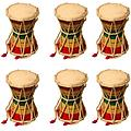 Pre-School & Day Care Supplies - Music Class Pack 6 Two Sided Mini Hand drums - Package includes 6 Damroo drums.
