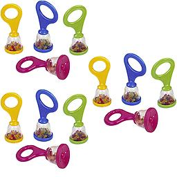 Premium Quality Party Favors 12 Pack of BPA FREE Hohner Baby Maracas Assorted Package includes 12 single assorted maracas.
