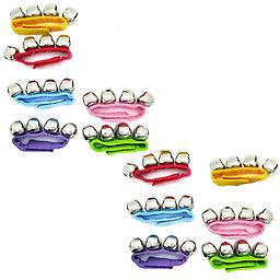 Premium Quality Party Favors 12 Pack of Rhythm Band Wrist Jingle Bells Assorted Package includes 12 assorted wrist bells.