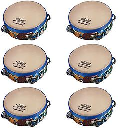 Premium Quality Party Favors 6 Pack of Rhythm Club Children's Tambourines Package includes 6 pack of Rhythm Club Tambourines.