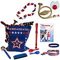 4th of July Parade Pack for Kids - Music & Fun Pack J - 4th Of July Parade Pack for Kids - Patriotic USA Music & Fun Pack Includes: Patriotic Bag, French Horn Kazoo, Red White Blue Lei, Stars & Stripes Bandana, Flag Bracelet, Red Recorder, Patriotic Record