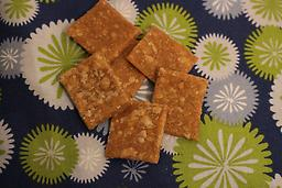 1) Peanut Butter Oatmeal 10oz. 70+ Treats (PBO12002) Wheat flour, white flour, water, natural peanut butter, oats, canola oil, honey. See DETAILS for Guaranteed Analysis.