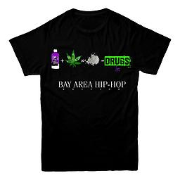 Drugs Bay Area Hip-Hop Edition Tee Black T Shirt Black
