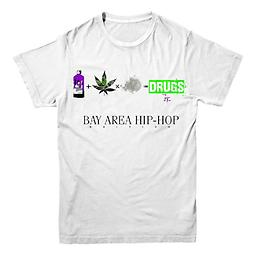 Drugs Bay Area Hip-Hop Edition Tee White T Shirt White