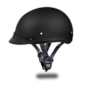 D.O.T. DAYTONA SKULL CAP- DULL BLACK - Size Choices:3XS,2XS,XS,S,M,L,XL,2XL,3XL,4XL Meets And Exceeds D.O.T. FMVSS 218 Standards. And Is The Smallest D.O.T. 1/2 Shell Helmet Ever Made!! With 3 Different Shell Sizes.