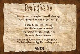 """a - 1.1Encouragement - """"Don't Give Up"""" - Apron Adjustable Straps/2 pockets """"Don't Give Up"""" - Custom printed, premium made aprons with adjustable straps and 2 pockets. Available in black, khaki, royal blue, red and dark green."""