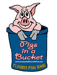 Pigs in a Bucket Our hand cooked pork rinds available in 4 different flavors.