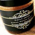 SugarWench Scrub - A scandalously naughty combo of Sweet Almond Oil, Demerara Sugar and our best-selling Wench fragrance. Exfoliate and hydrate all in one luxurious step. 8 oz.