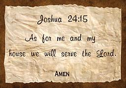 """v - 1.2Scriptures Joshua 24:15 T-shirt Joshua 24:15 T-shirt """"As for me and my house we will serve the Lord."""" 100 percent cotton premium made T-shirt, with a """"major message."""" Available in black and white. Other colors by phone"""
