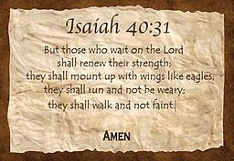 """x - 1.6Scriptures Isaiah 40:31 Tote Bag Isaiah 40:31 """"But those who wait on the Lord shall renew..."""" Premium made tote bag, with reinforced straps. An all-purpose bag. Available in black, red, royal blue, navy blue and natural."""