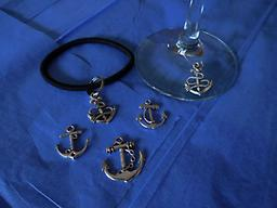 Charmlets- Anchors Help your guests keep track of their beverages with an anchor charm for their glass AND an anchor charm for their wrist in case they forget. A great way to greet guests and break the ice.