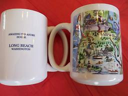 Amazing Treasure House Logo Coffee Mugs. Set of 2 Two Amazing Treasure House Logo Mugs. Logo on one side Amazing Treasure House LONG BEACH washington on other.