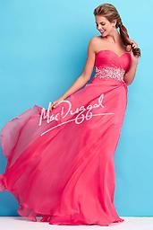 Watermelon Mac Duggal 65110 This stunning strapless prom dress will make your magical night even more memorable and special. Mac Duggal Style 65110L features a strapless sweetheart neckline, expansive break away, and beautiful b