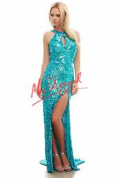 Turquoise Mac Duggal 3434 This beautiful sparkling, long prom dress is Mac Duggals number one selling sequin gown and would look beautiful on any lucky girl.