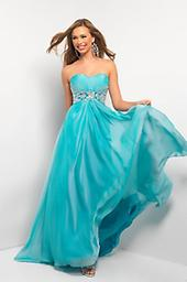 Aqua Blush Prom 9509 Soft and enticing, this floor-length Blush 9509 creation will have all the guys clamoring for your attention! Mini ruching adds depth and dimension to the fitted sweetheart bodice.