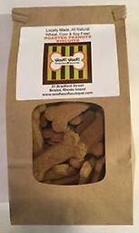 All Natural Biscuit Bar Biscuits-Roasted Peanut 1 lb Our biscuit bar biscuits are now available for online ordering. Choose your dogs favorite variety or pick a mixed pound for them to enjoy when you can't visit us. Locally made, wheat, corn & soy FREE!