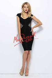 Black/ Nude Mac Duggal 40410 Make this dynamic geometric dress by Mac Duggal 40410R Black White Red your go-to style for cocktail hour. Chic cap sleeves and a scoop neckline detail the finely fit bodice, and contrasting insets.