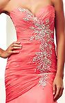 Hot Coral Mac Duggal 48124H - Dance the night away in this dazzling evening dress from Mac Duggal 48124H Ball Gowns. The strapless bodice has a chic sweetheart neckline and is elegantly ruched for a form fitting style.