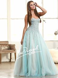 Aqua/Nude Mac Duggal 62103 Reward yourself with a beautiful gown from Mac Duggal 62103H. The strapless sweetheart neckline is elegant on the top. Gleaming facets light up the bodice.