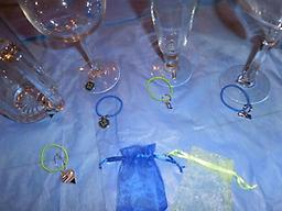 Seahawk CHARMLETS Help your guests keep track of their beverage. A Seahawk theme charm for their glass and wrist or ??