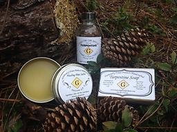 Southern Sampler Our unique Southern Sampler consists of our Healing Pine Salve, 100% Pure Gum Spirits of Turpentine, and Turpentine Soap. $30.99 (FREE SHIPPING)