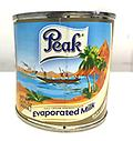 Peak Milk 5.4fl oz small - Evaporated milk. Rich and creamy breakfast milk