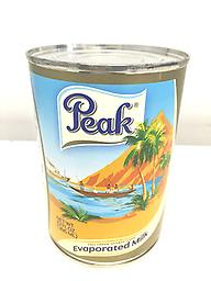 Peak Milk 12fl oz Lg Evaporated milk. Rich and creamy breakfast milk