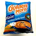 Golden Morn - Maize breakfast Cereal. Make cold or hot cereal.