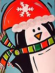 "Christmas Penguin - 9 x 12"" Paint Pack *PICK-UP AT STUDIO. WE WILL EMAIL YOU TO ARRANGE PICK-UP ONCE ORDER IS RECEIVED."