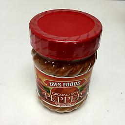 Hot Chili Peppers Joe foods - grounded hot chili peppers.