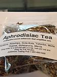 Aphrodisiac Tea - A beautiful mood enhancer that amplifies sex. Ingredients: Damiana, Rosehips, Gota Kola, Muria Puama, Schzandra, Sassafras.