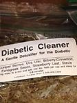 Diabetic Cleaner Tea - A gentle detoxifier for the Diabetic. Ingredients: Juniper Berries, Uva Ursi, Billberry, Fenegreek Seeds, Strawberry Leaf, Cinnamon, and Stevia.
