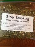 Stop Smoking Tea - Stop cravings for nicotine - St. John's Wort, Mullein, Peppermint, Scullcap, Cloves, Marshmallow, Licorice Root